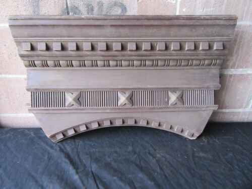~ ORNATE ANTIQUE WALNUT PEDIMENT ~ 30 INCHES WIDE ~ ARCHITECTURAL SALVAGE ~
