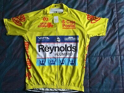 Maillot líder de la vuelta a España Reynolds 1984 talla XXL