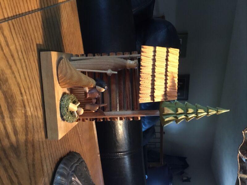 Handmade Wood Polish Nativity