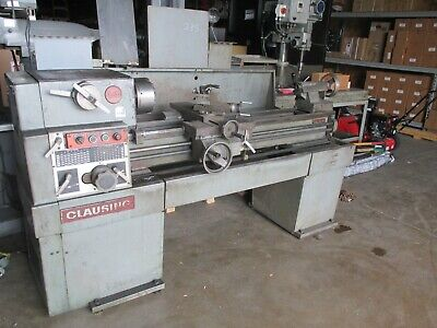 Clausing Model 1401 Lathe With 15 Swing X 48 Centers 1-12 Spindle Hole
