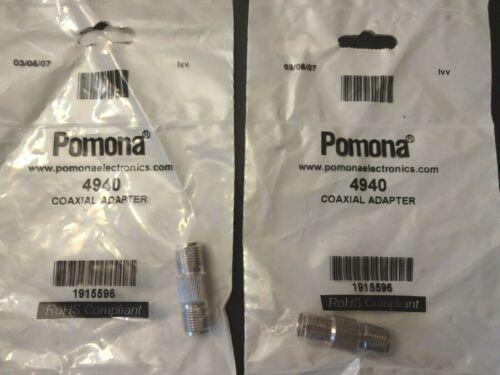 2 x ~ ITT Pomona Model No. 4940 Coaxial Adapter ✅ New