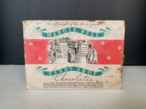 1937 Margie Bell Candy Shop Chocolates E.J. Brach & Sons Candy Box
