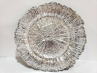 Silver Plate Chargers (GORGEOUS Christmas Holiday Silver Chargers Plates Set of 4 )
