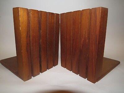 Mid Century Wood KALMAR DESIGNS Slat Teak BOOKENDS Danish Modern Art Modernist  for sale  Jonesboro