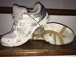 Ladies size 7.5 Asics Gel court shoes.