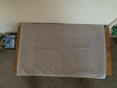 new christy est 1850 silver bath mat 100% cotton