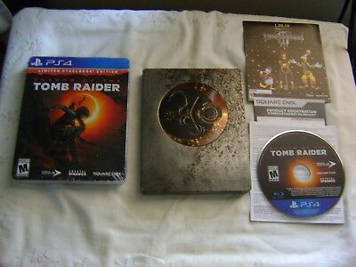Shadow of the Tomb Raider Playstation 4 Video Game Steelbook PS4 Games