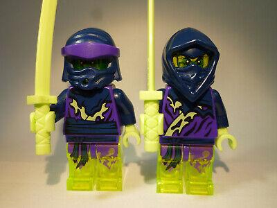 LEGO® Ninjago: 2x Geisterkrieger, Geist, Ghost Ninja + Waffen Ninjago #1 (Lego Krieger Waffen)