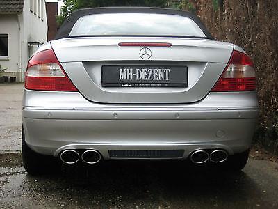 MH-DEZENT 4 Rohr Sportauspuff Mercedes CLK 200 bis 350 W209 AMG