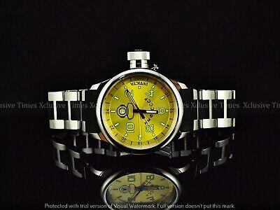 Invicta Men Signature Russian Diver Swiss GMT Liquid Chrome Polish SS Watch-Rare