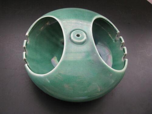 VTG Green Porcelain Small Hanging Planter Japanese