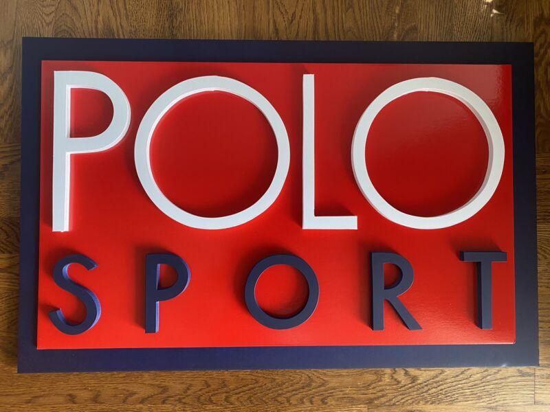 vintage Polo Sport Ralph Lauren Sign Display Logo 1992 92 93 Snow Beach Hi Tech