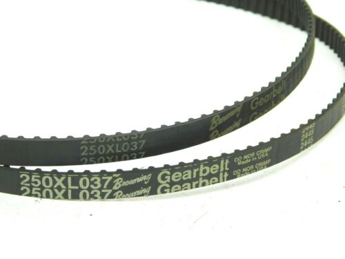 """LOT OF 2! Browning 2L575 25"""" Long Gear belts 3/8""""W 250XL037 Synchronous Drive LV"""