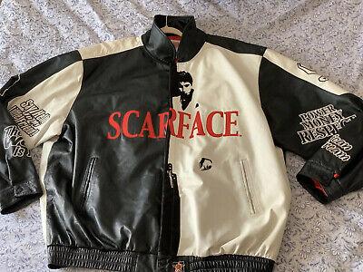 Vintage Scarface Varsity Leather Jacket Size 6XL JH DESIGN GROUP ORIG OWNER
