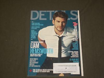 2012 MARCH DETAILS MAGAZINE - LIAM HEMSWORTH COVER - B 1647 (Hemsworth B)