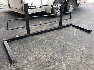 Back rack with side tool bars brackets