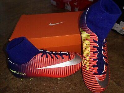 Kids new Nike Mercurial Victory 6 Football sock boots. UK 5. Neymar, Ronaldo CR7
