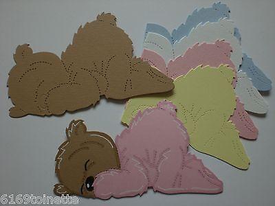BABY SLEEPING Teddy Bear Die-cuts (Makes 8) Cardmaking / Crafts