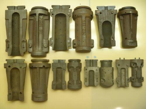 Lot of 7 Cast Iron Vacuum Tube Molds Radio TV Obsolete Sylvania Osram Glass Mold
