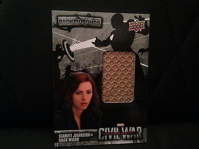 CAPTAIN AMERICA CIVIL WAR SCARLETT JOHANSSON AS BLACK WIDOW COSTUME CARD - Black Widow Scarlett Johansson Costume
