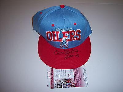 ELVIN BETHEA HOUSTON OILERS,HOF JSA/COA SIGNED HAT