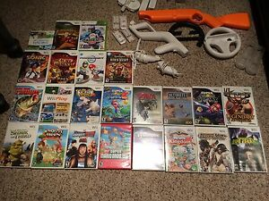 Nintendo wii with 23 games, accessories