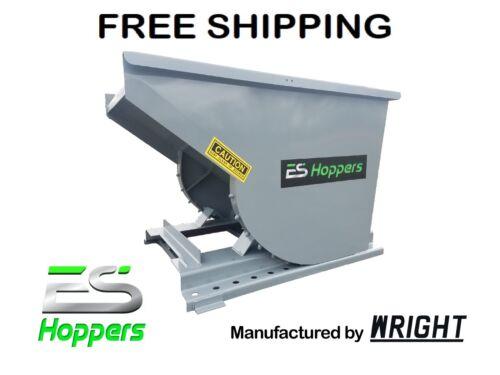 Es Hopper Wright 1/2 Yard Self Dumping Hopper Forklift Dumpster Free Shipping