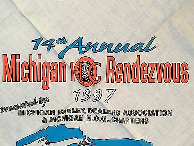 1997 HOG Michigan Rendezvous Bandana Harley-Davidson Motorcycles Chopper Hawg