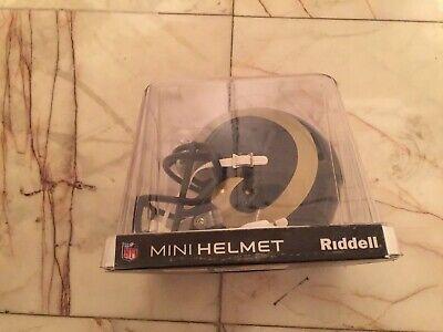 Riddell Mini Los Angeles/St Louis Rams NFL Football Helmet w/Chin Strap Louis Rams Football Helmet