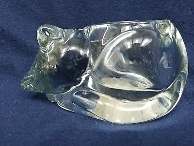 Indiana Clear Glass Cat Votive Candle Holder