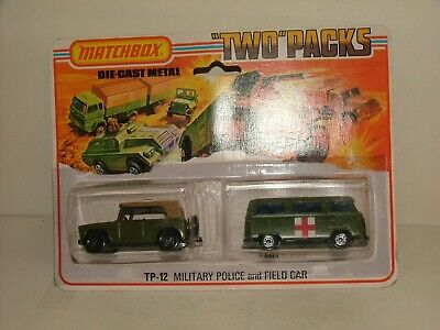 MATCHBOX S/F TWO PACK NO.TP-12-B DORMOBILE AND FIELD CAR CHROME HUB 23A AND 18A