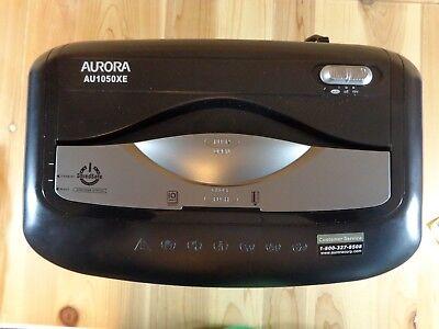 Aurora 10 Sheet Cross Cut Paper Shredder Black Au1050xe Shreds Credit Cards