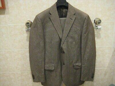 Nino Brown Suit (Nino Danieli by Corneliani cotton/linen brown pinstriped suit size 50R USA)