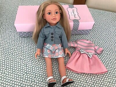 """Chad Valley Designa A Friend 18""""/45cm Doll And 2 Outfits"""