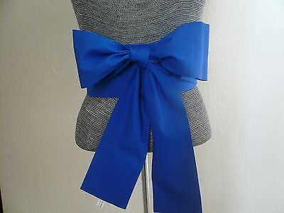 "Japanese Sash OBI Cotton Belt Kimono Yukata Wedding Royal Blue 4"" W x 110"" L"