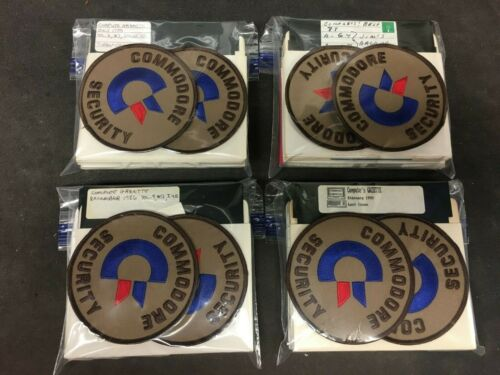 """Commodore Security Patch 4"""" Repro 2ea and bonus 10ea 5 1/4"""" floppy disks (USED)"""