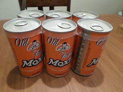 Vintage All Original Old Fashion Moxie Six Pack Straight Steel Soda Pop Cans