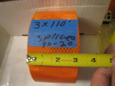 3m Brand Orange Reflective  Conspicuity Tape 3 X 110 Ft