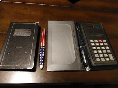 Check Book Holder With Calculator And Planner