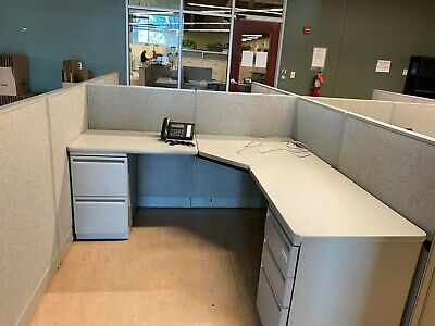 6x6x44h Cubicle Partition Systems By Haworth Office Furniture
