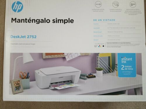 New HP Desk Jet 2752 Print Scan Copy WiFi Printer Home offic
