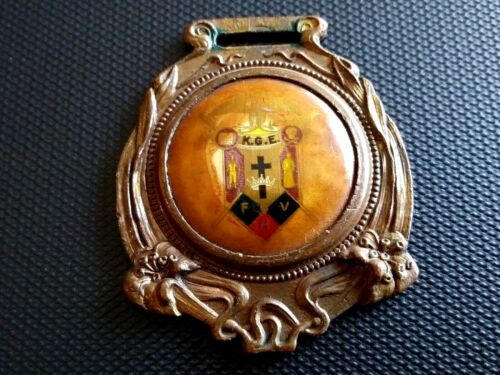 """Nice looking Vintage """"Knights of the Golden Eagle?"""" pocket watch Fob."""