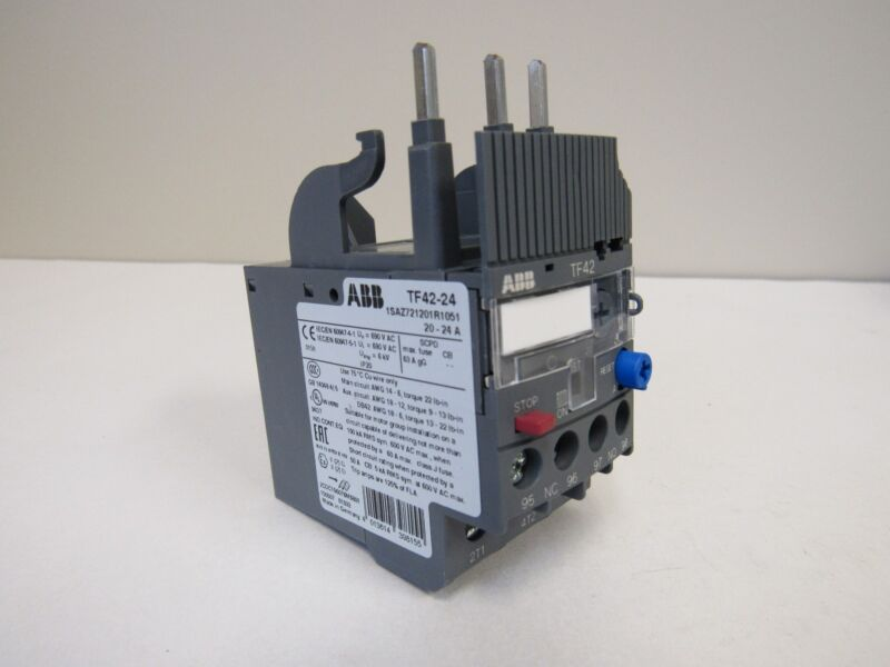 NEW ABB TF42-24 THERMAL OVERLOAD RELAY 20-24 AMP MULTI-PHASE NIB