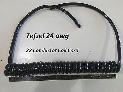 22 Conductor 24awg Tefzel Coil Cord