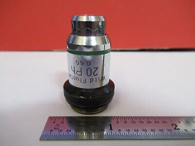 Wild Heerbrugg Objective Fluor 20x Ph Microscope Part As Pictured A9-a-101