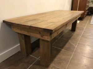 Solid Wood Coffee Table - Antique Oak Top $200 OBO
