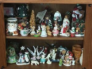 Assorted Christmas figurines