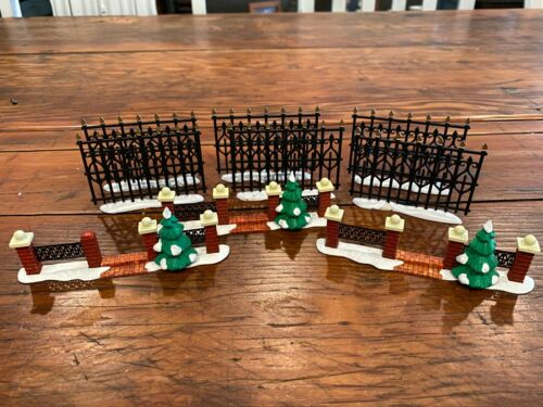 Dept 56 Misc Lot of Metal Fence and Brick and Metal Fence