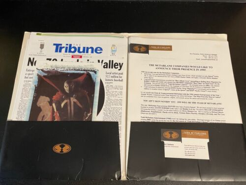1999-2000 TODD MCFARLANE PRESS KIT FOLDER WITH 40+ PAGES OF INFORMATION MORE
