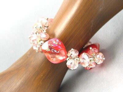 Color Shell Crystal Beads Bracelet Stretching Women Fashion Costume Jewelry - Costume Bracelet